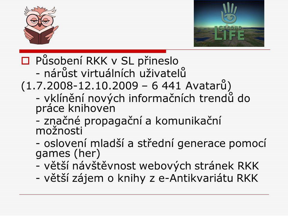 Působení RKK v SL přineslo