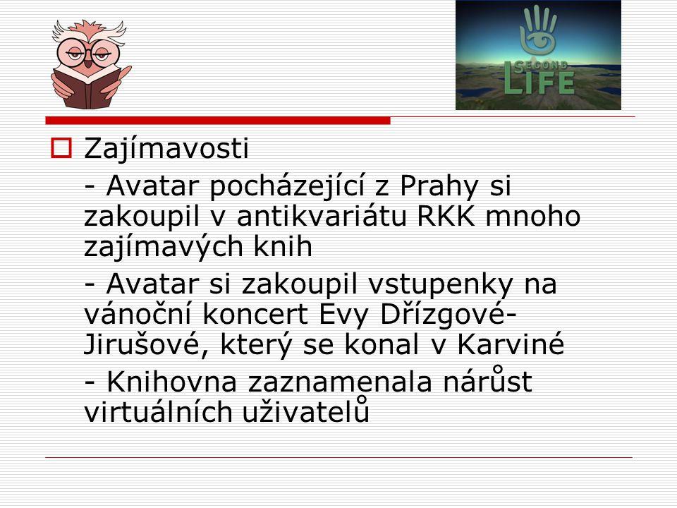 Zajímavosti - Avatar pocházející z Prahy si zakoupil v antikvariátu RKK mnoho zajímavých knih.