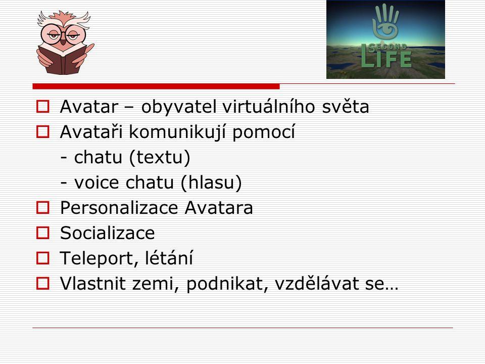 Avatar – obyvatel virtuálního světa