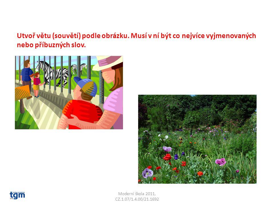 Utvoř větu (souvětí) podle obrázku