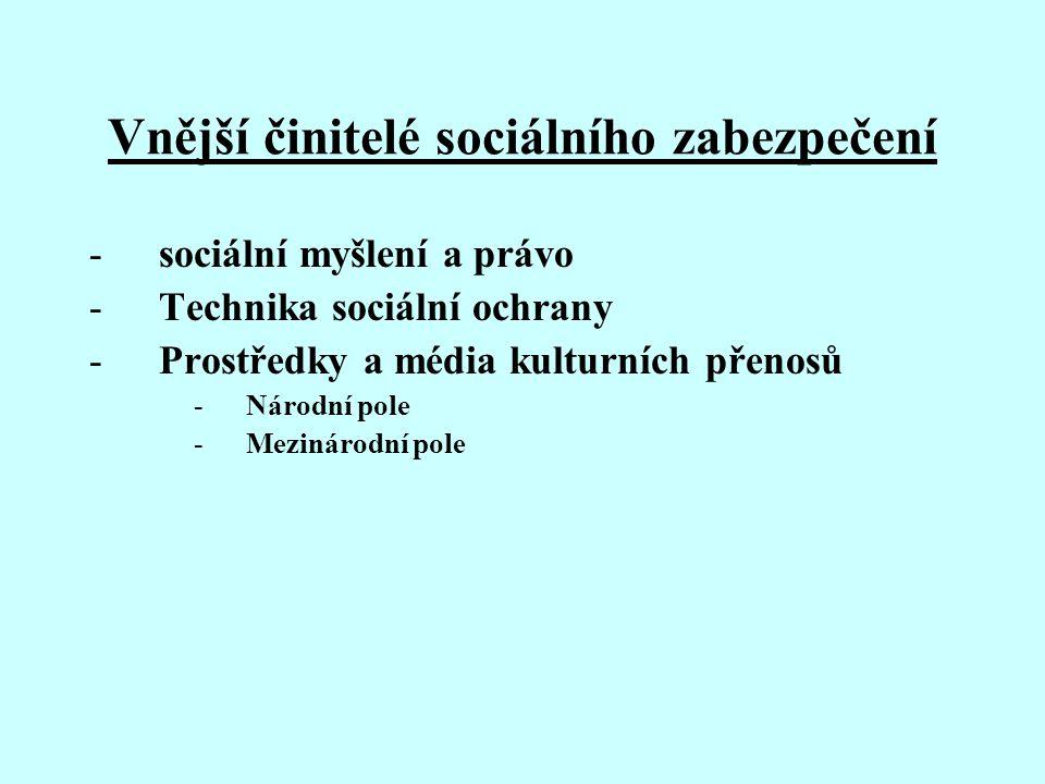 Vnější činitelé sociálního zabezpečení