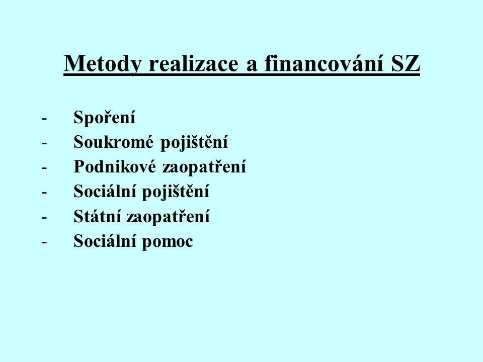 Metody realizace a financování SZ