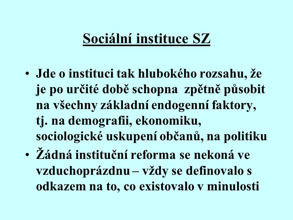 Sociální instituce SZ
