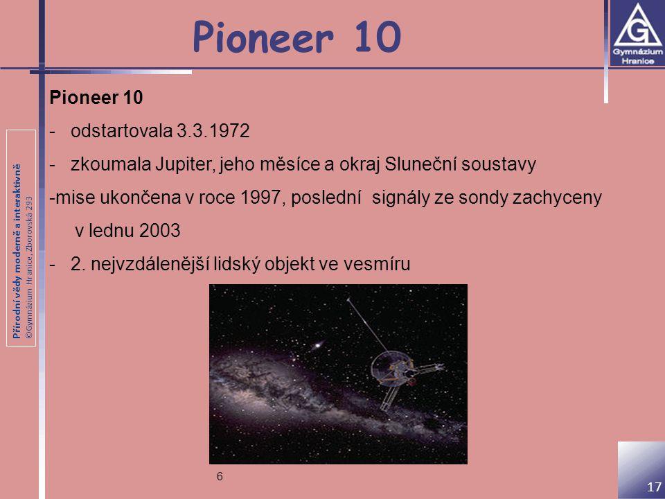 Pioneer 10 Pioneer 10 - odstartovala 3.3.1972