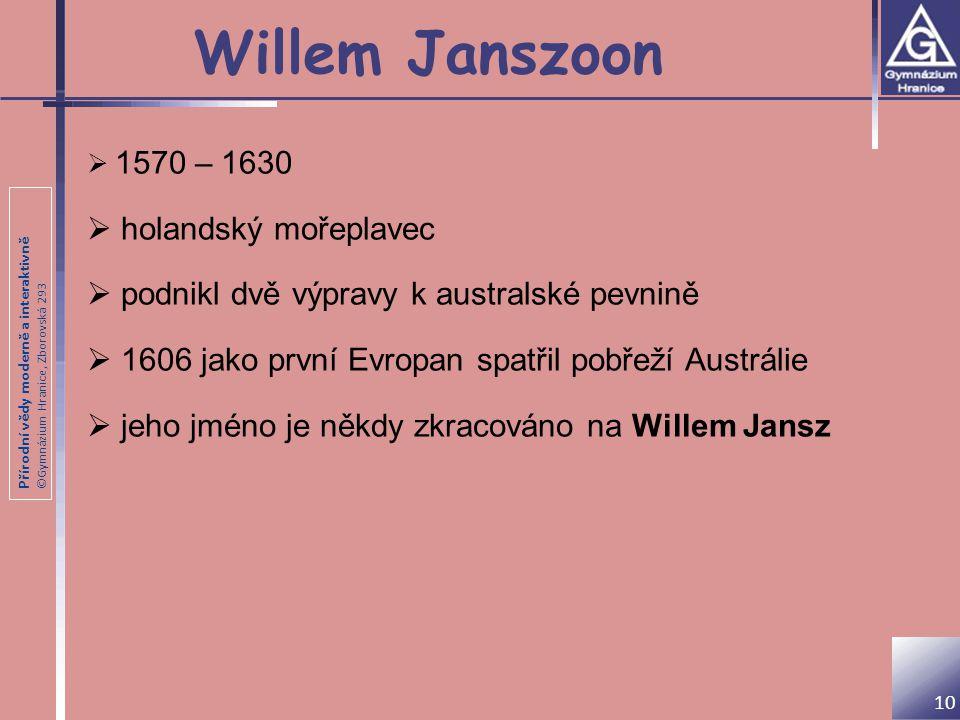 Willem Janszoon holandský mořeplavec