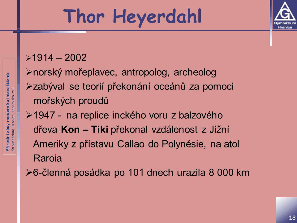 Thor Heyerdahl norský mořeplavec, antropolog, archeolog