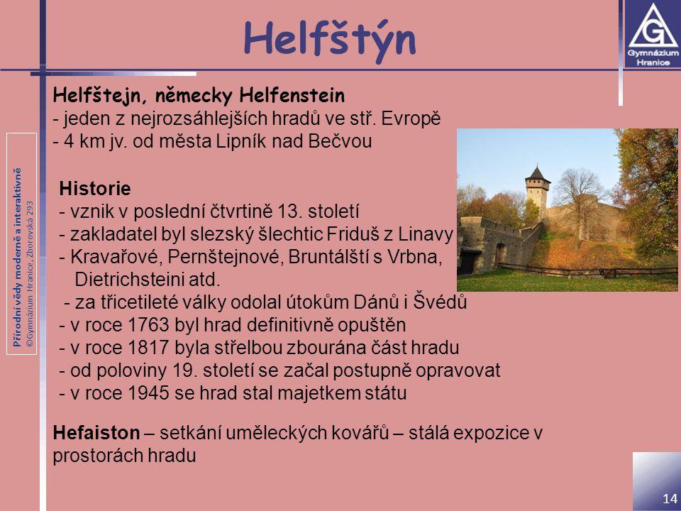 Helfštýn Helfštejn, německy Helfenstein