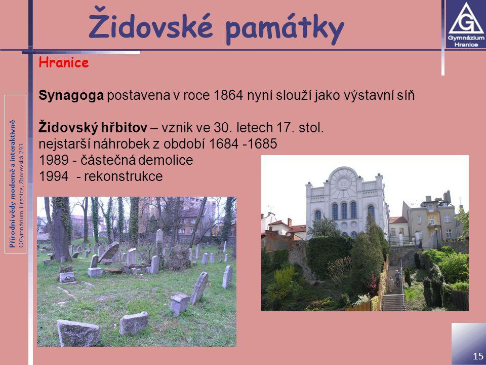 Židovské památky Hranice