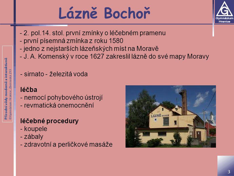 Lázně Bochoř - 2. pol.14. stol. první zmínky o léčebném pramenu