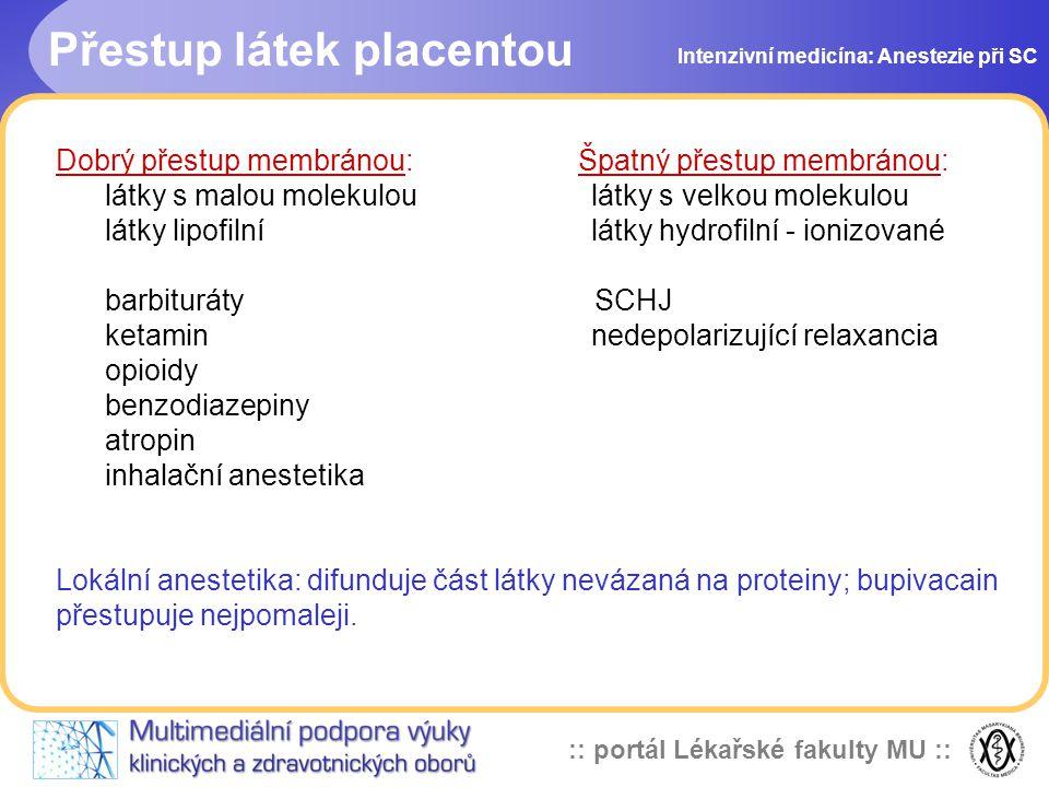 Přestup látek placentou