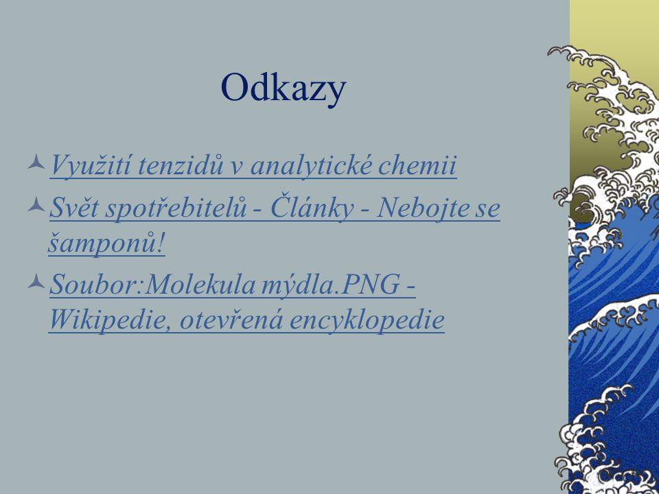 Odkazy Využití tenzidů v analytické chemii