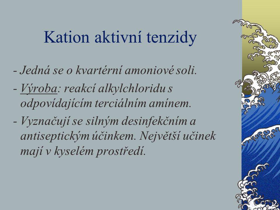 Kation aktivní tenzidy