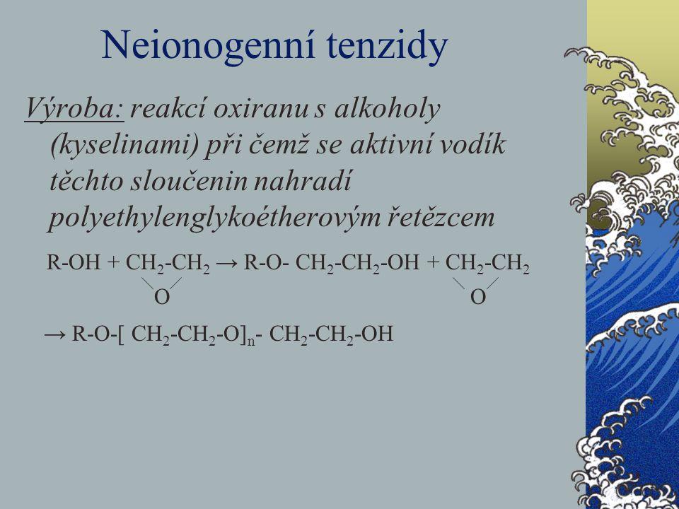 Neionogenní tenzidy