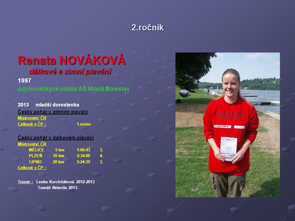 Renata NOVÁKOVÁ dálkové a zimní plavání