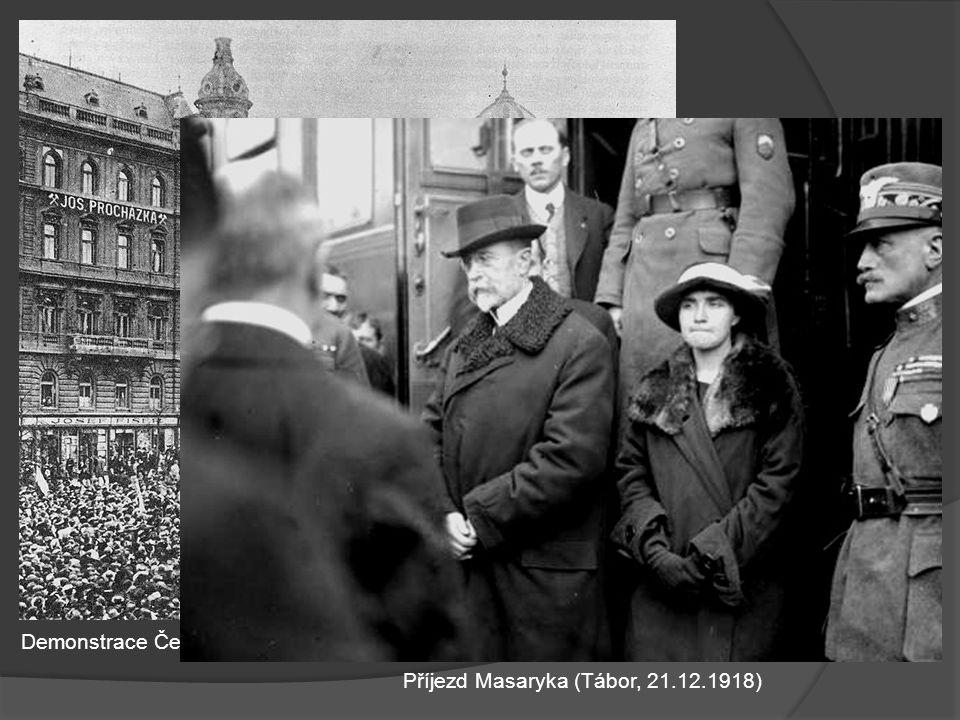 Demonstrace Čechů 28.10.1918 na podporu Národního výboru