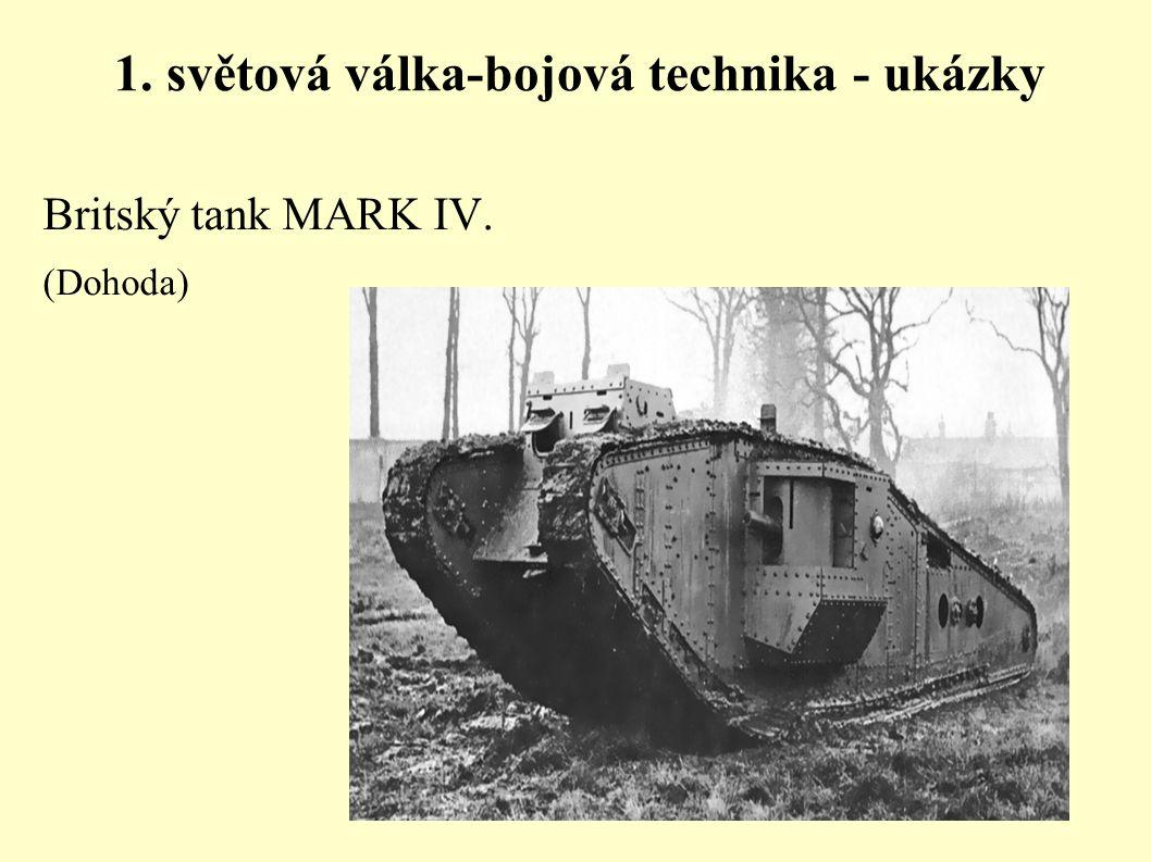 1. světová válka-bojová technika - ukázky