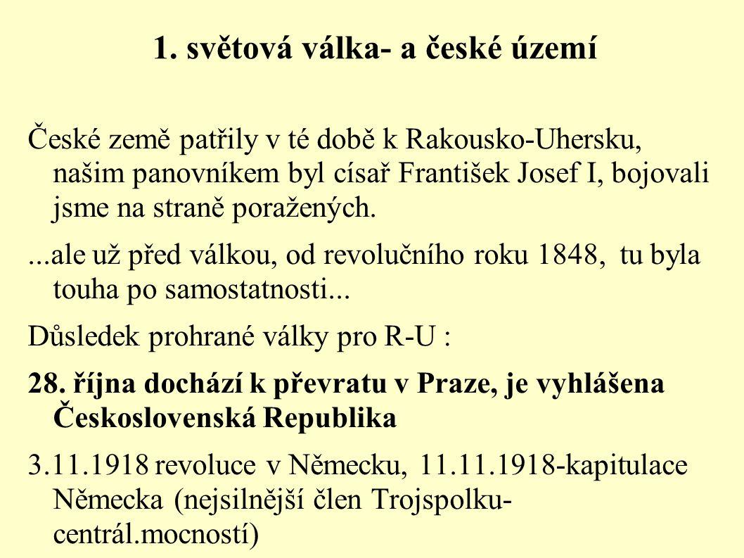 1. světová válka- a české území
