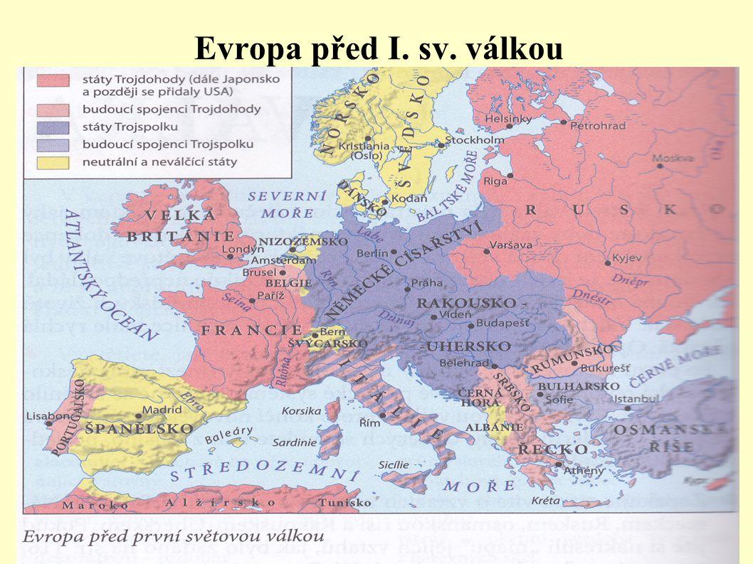Evropa před I. sv. válkou .