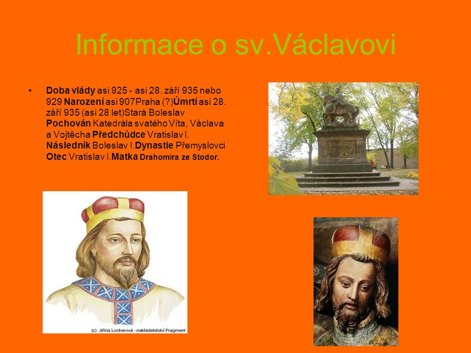 Informace o sv.Václavovi