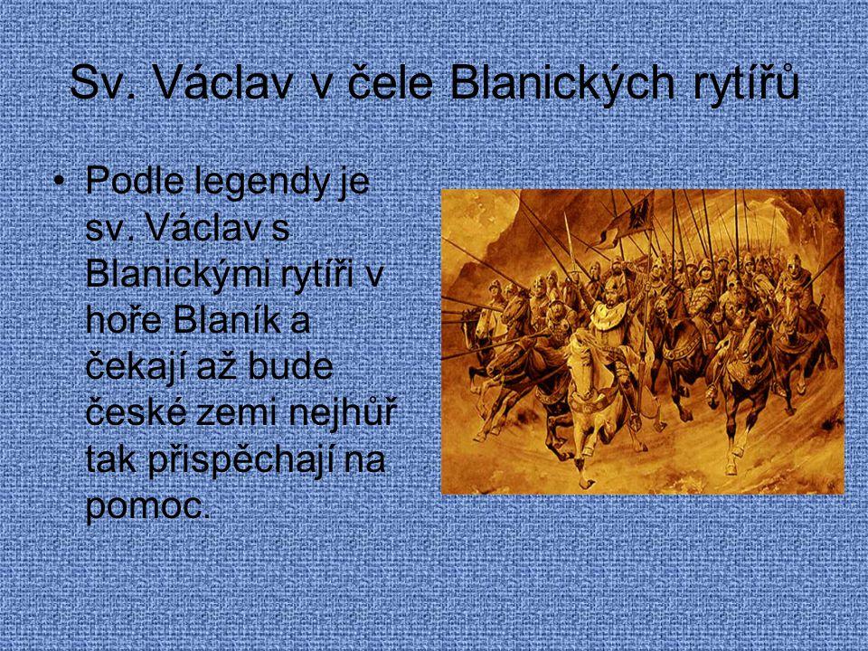 Sv. Václav v čele Blanických rytířů