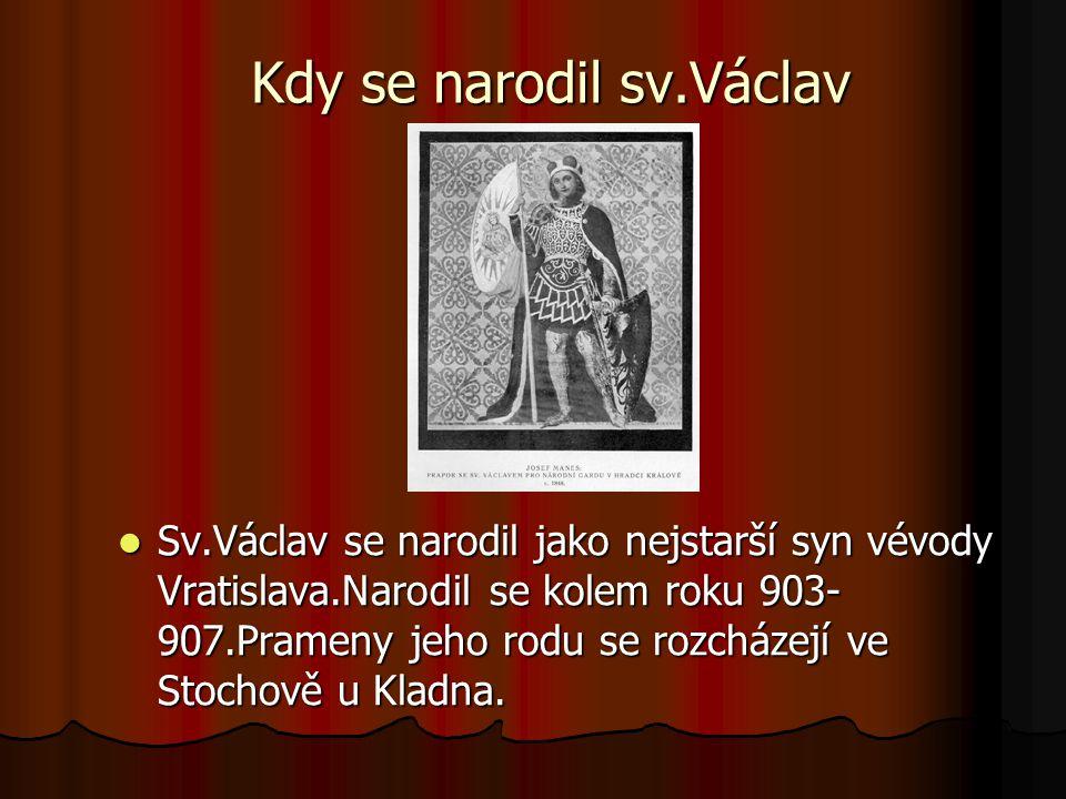 Kdy se narodil sv.Václav
