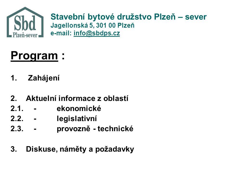 Stavební bytové družstvo Plzeň – sever Jagellonská 5, 301 00 Plzeň e-mail: info@sbdps.cz