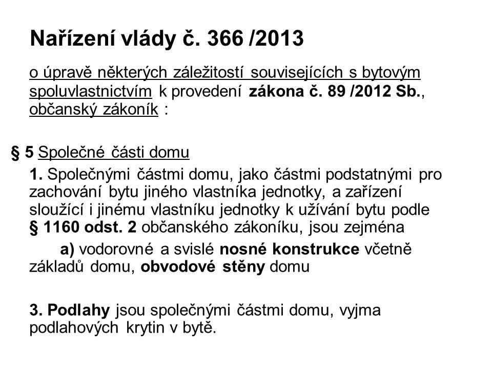 Nařízení vlády č. 366 /2013