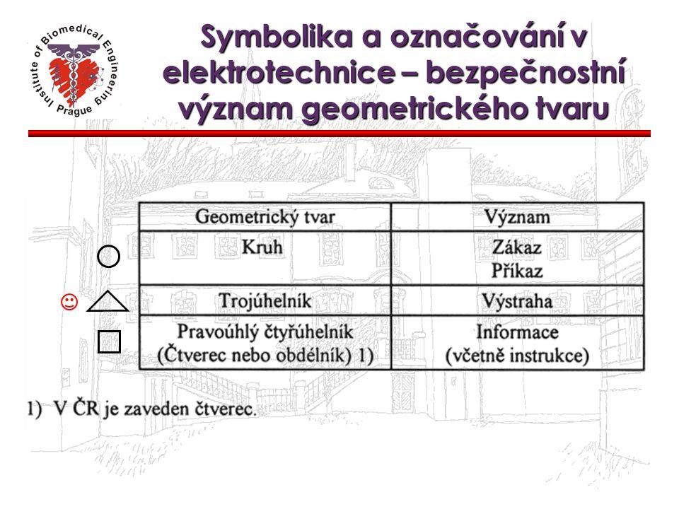 Symbolika a označování v elektrotechnice – bezpečnostní význam geometrického tvaru