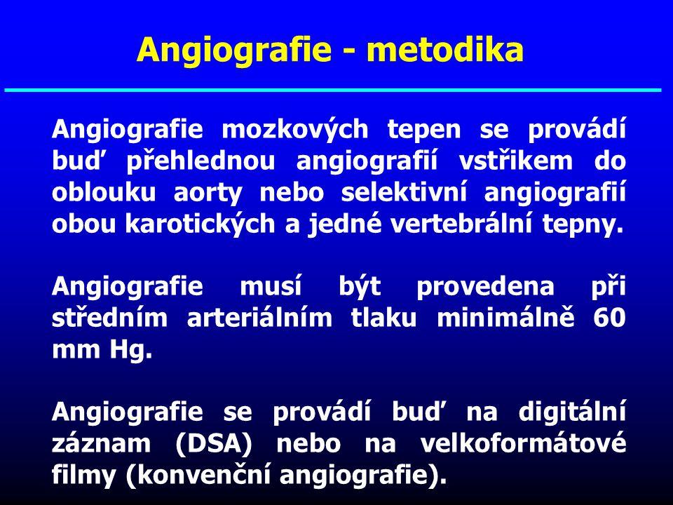 Angiografie - metodika