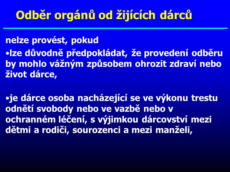 Odběr orgánů od žijících dárců