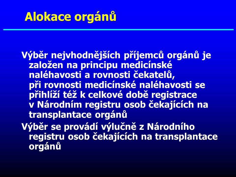 Alokace orgánů