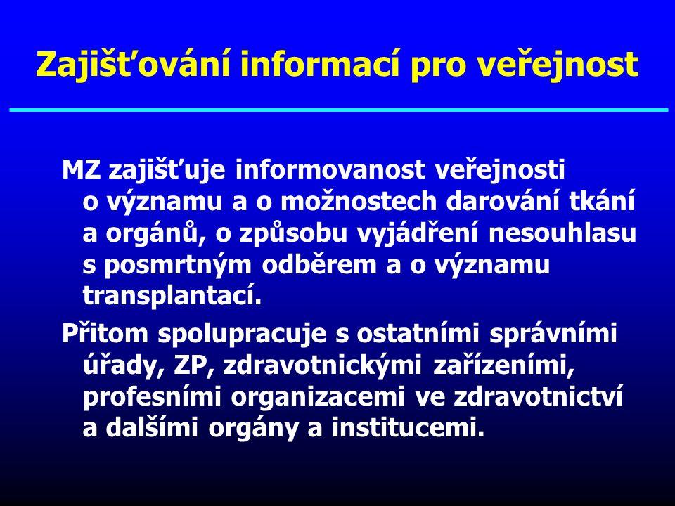 Zajišťování informací pro veřejnost