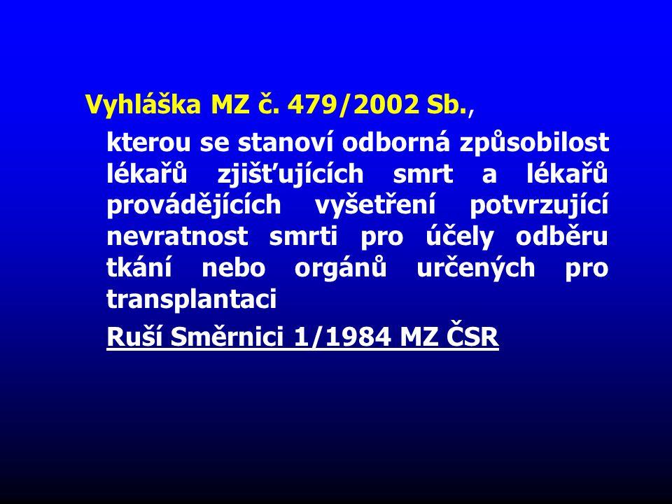 Vyhláška MZ č. 479/2002 Sb.,