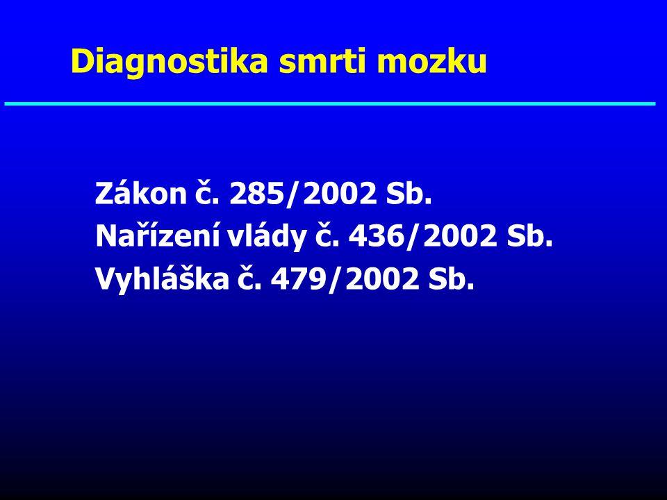 Diagnostika smrti mozku