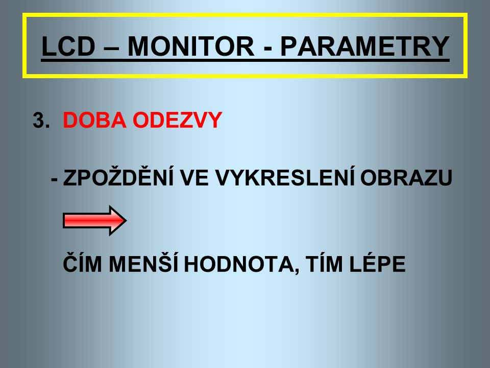 LCD – MONITOR - PARAMETRY