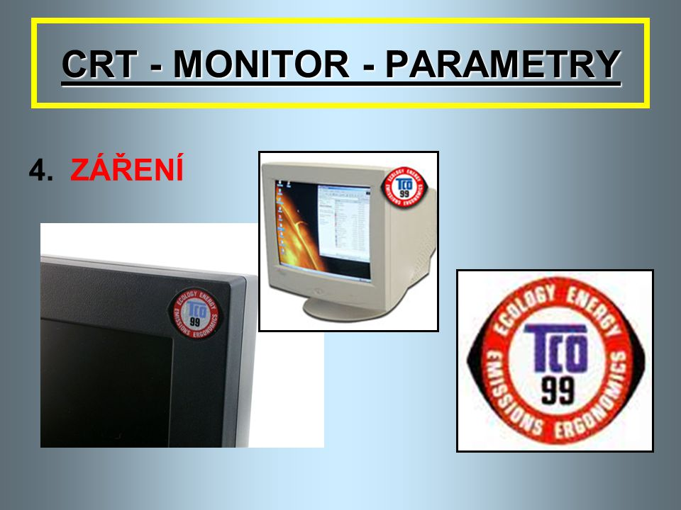 CRT - MONITOR - PARAMETRY
