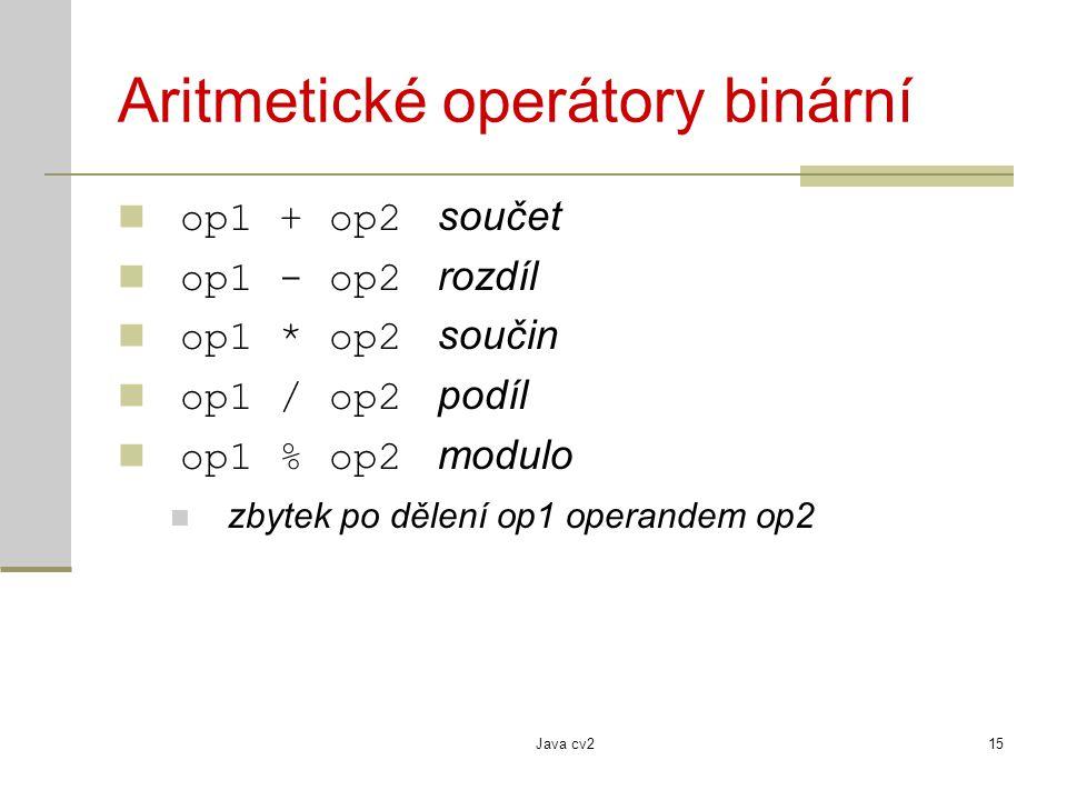 Aritmetické operátory binární