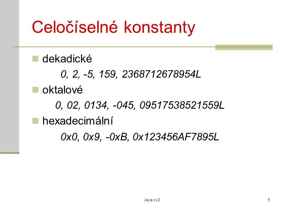Celočíselné konstanty