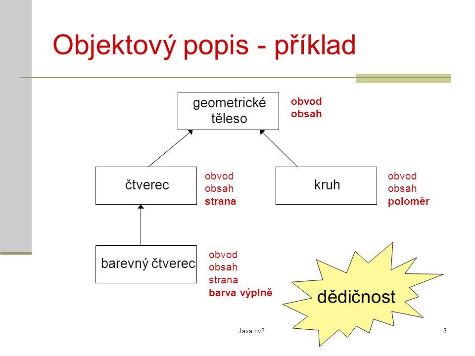 Objektový popis - příklad