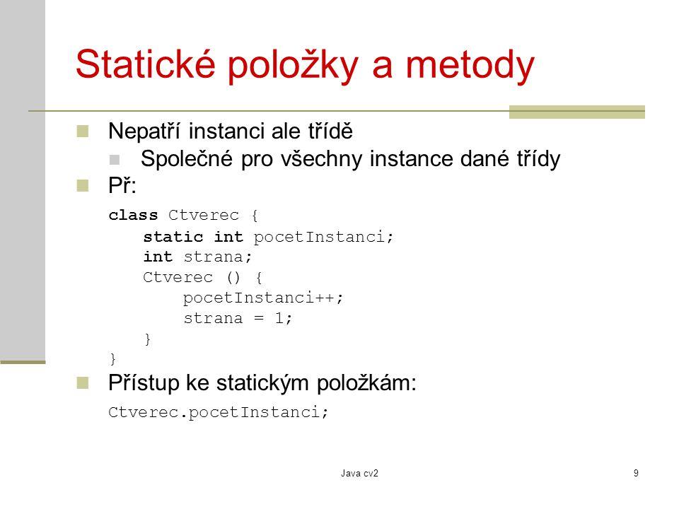 Statické položky a metody
