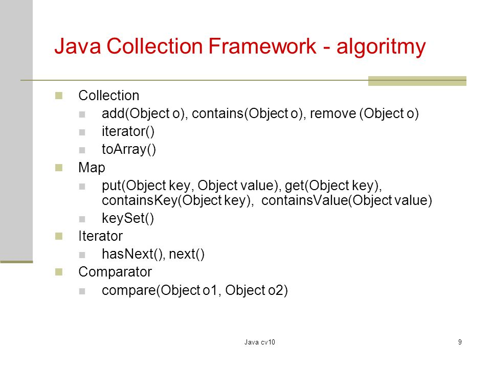 Java Collection Framework - algoritmy