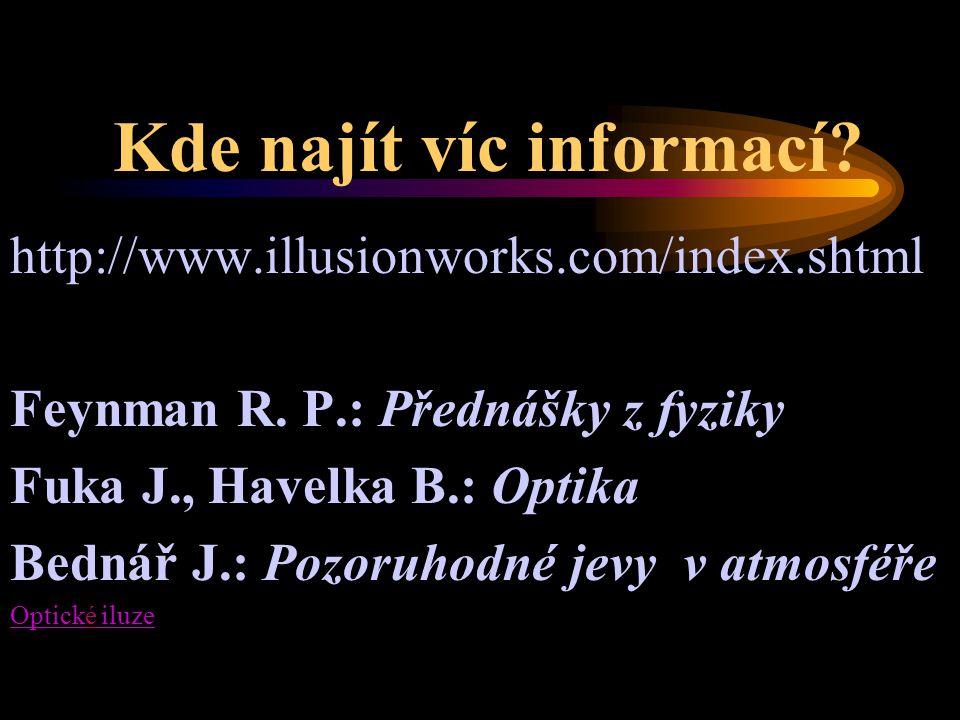 Kde najít víc informací