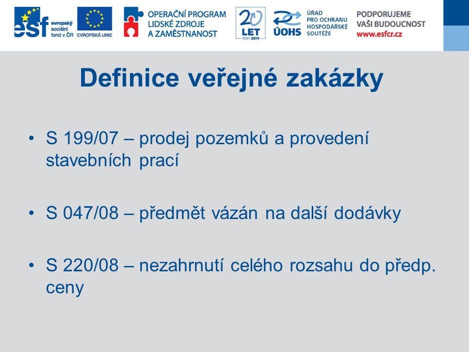 Definice veřejné zakázky