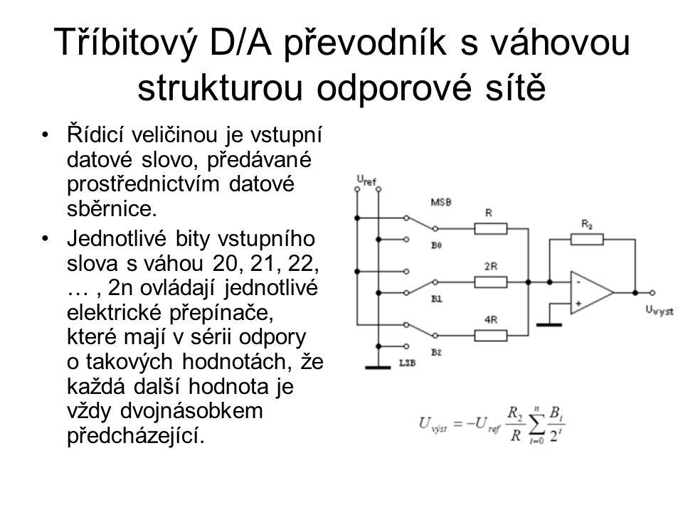 Tříbitový D/A převodník s váhovou strukturou odporové sítě