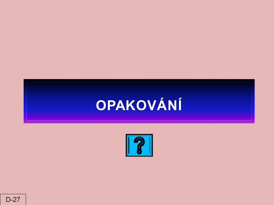 OPAKOVÁNÍ D-27