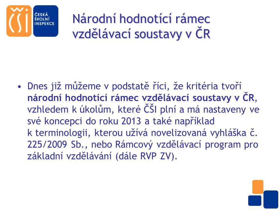 Národní hodnotící rámec vzdělávací soustavy v ČR