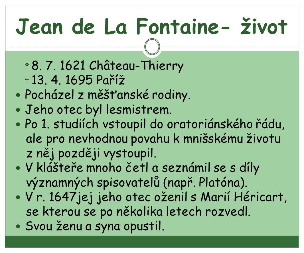 Jean de La Fontaine- život