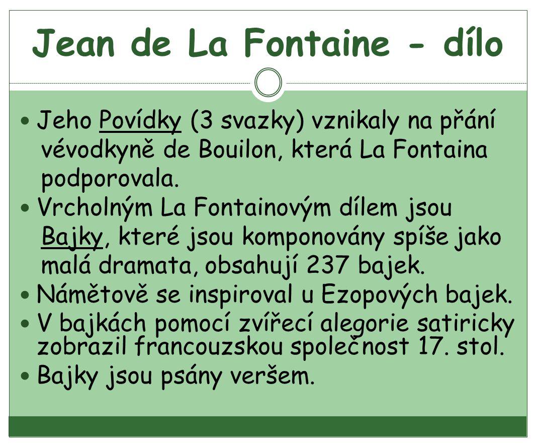 Jean de La Fontaine - dílo
