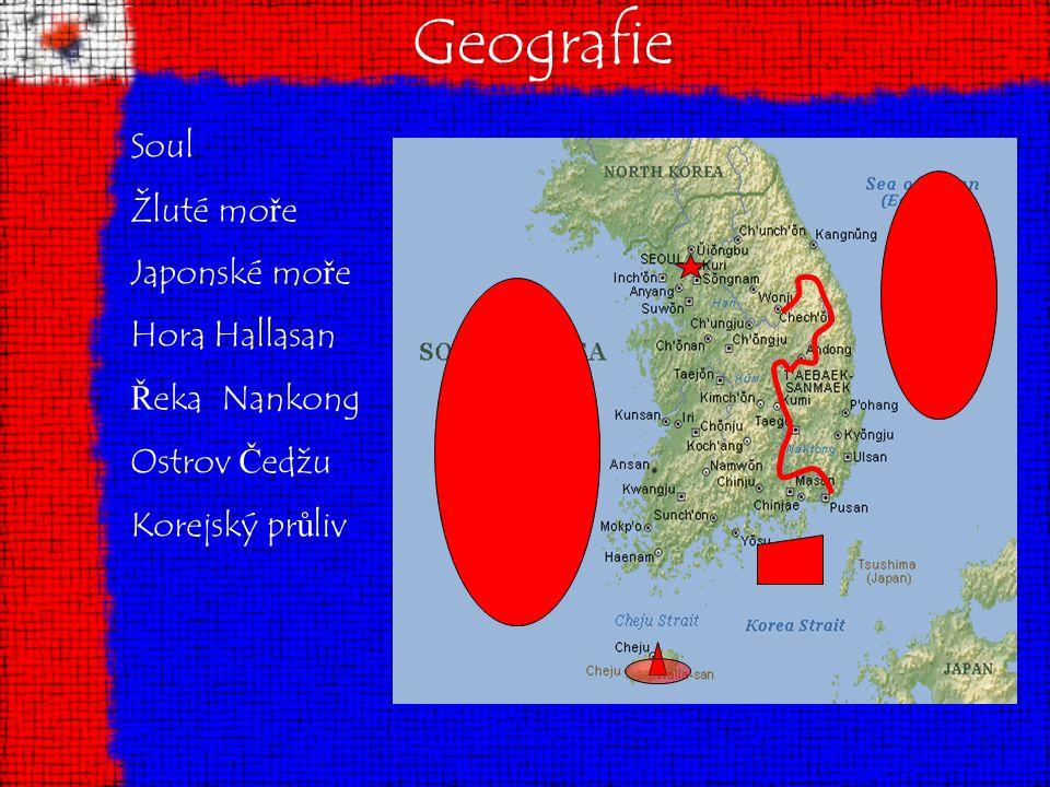 Geografie Soul Žluté moře Japonské moře Hora Hallasan Řeka Nankong