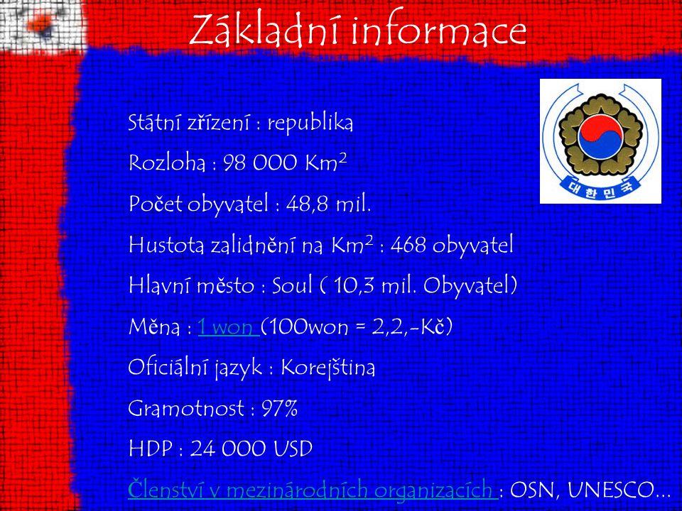 Základní informace Státní zřízení : republika Rozloha : 98 000 Km2